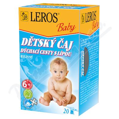 LEROS BABY Dětský čaj dých.cesty s lípou n.s.20x2g