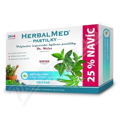 HerbalMed past. Dr.Weiss Eukalypt+máta+vit.C 24+6