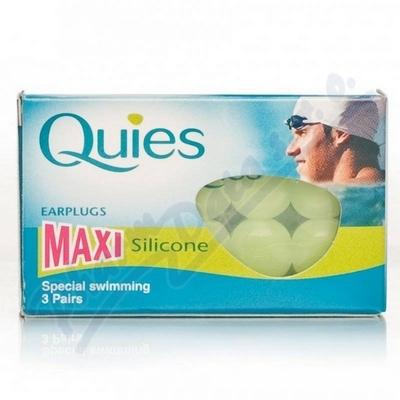 Quies Silik.chrániče sluchu MAXI 3 páry-plavání