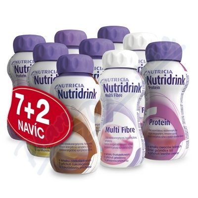 Nutridrink balíček 7 + 2 por.sol. 9 x 200 ml