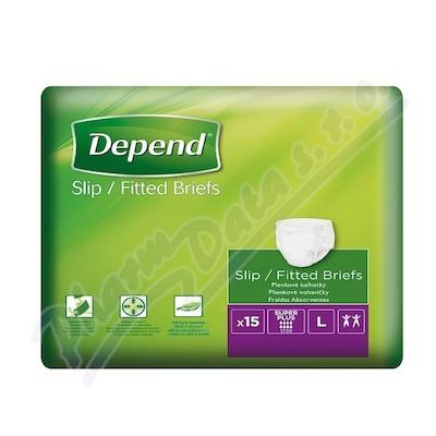 Depend Slip Super Plus inkont.kalhotky vel.L 15ks