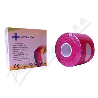FOX MUSCLE TAPE kinezio tejp.páska růžová 5cmx5m