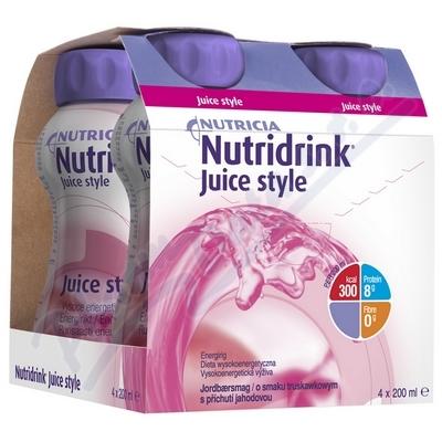 Nutridrink Juice Style s př. jahod.por.sol.4x200ml
