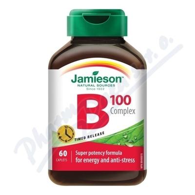 JAMIESON B-komplex 100mg s postupným uvolň.tbl.60
