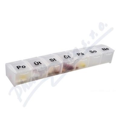 Dávkovač léků OBZOR typ 07 týdenní bílý