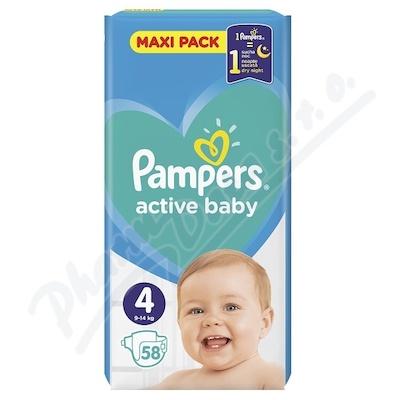 Pampers Active Baby VPP 4 Maxi 58ks