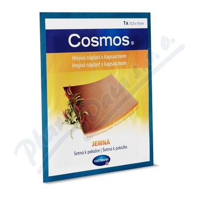 COSMOS hřejivá náplast s kaps. 12.5x15cm jemná 1ks