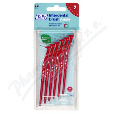 TePe mezizub.kart. Angle červené 0.5 mm 6ks 154630
