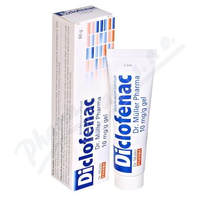 Diclofenac Dr.Müller Pharma 10mg/g gel 60g