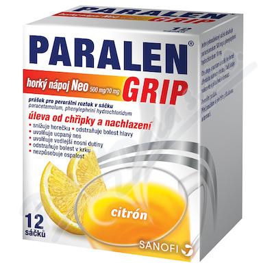 Paralen Grip Horký Nápoj Neo 500mg/10mg scc.12