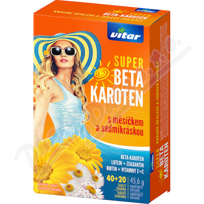 Vitar Super Beta-karot.měsíček+7kráska tbl.40+20