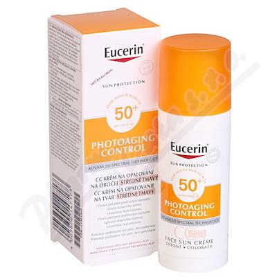 EUCERIN SUN CC krém na op SPF50+ s.tmavý 50ml