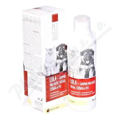 PET HEALTH CARE LOLA šamp. kočky antiparaz. 200ml