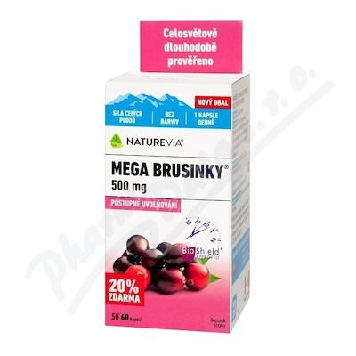 NatureVia Mega brusinky cps.50+10