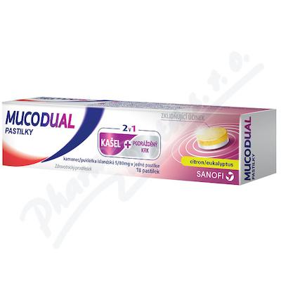 Mucodual 80-5mg 18 pastilek