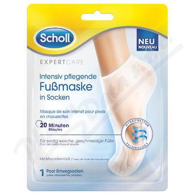 SCHOLL Expert Care maska-ponožky s makad.ol. 1pár