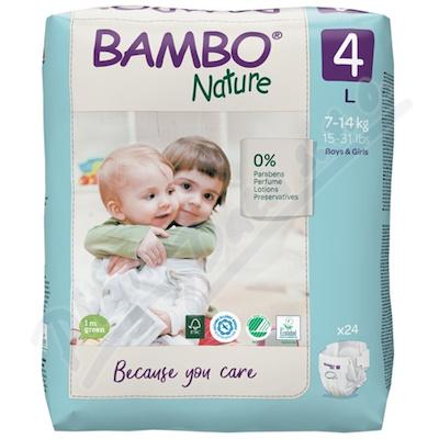 Bambo Nature 4 děts.plenkové kalhotky 7-14kg 24ks