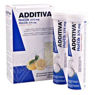 Additiva horčík 375mg+B-komplex+vit.C šum.tbl.2x10
