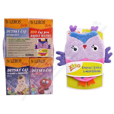 LEROS BABY BIO dětské čaje mix+žínka 4x20ks