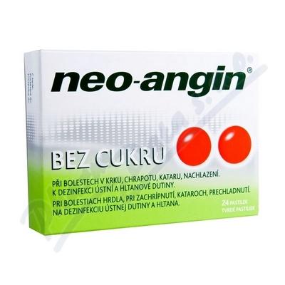 Neo-angin bez cukru pastilky 24