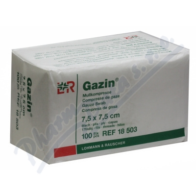 Gáza hydrofil.skl.kompr.Gazin 7.5x7.5cm/100ks
