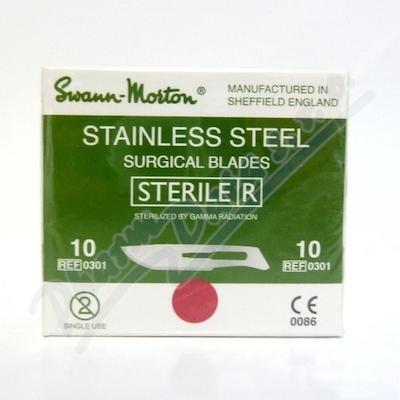Čepelka skalpelová steril.č.10 10ks