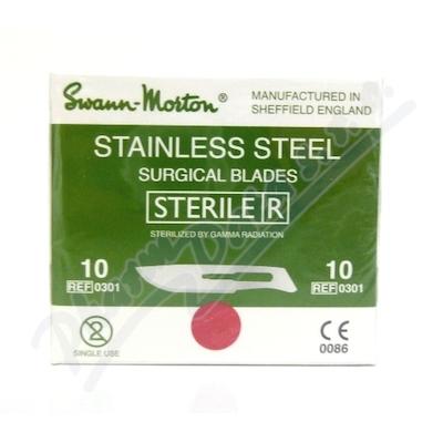 Čepelka skalpelová steril.č.10 100ks