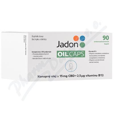 Jadon oil caps CBD s konop.olej.15mgCBD+B12 cps.90