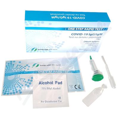 SAFECARE BIO-TECH ONE STEP RAPID TEST COVID - 19 IGM/IGG - 1 KS