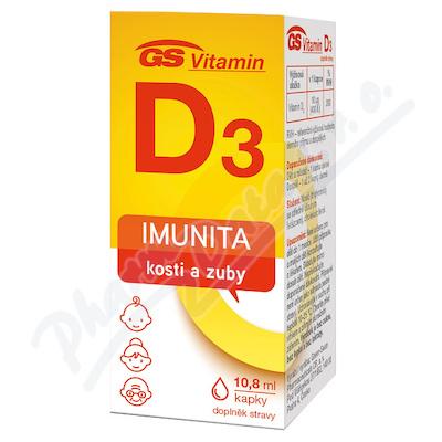 GS Vitamin D3 400IU kapky 10.8ml 2021 ČR/SK