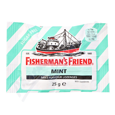 Fishermans Friend bonbóny dia mint/zelené 25g