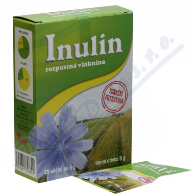 Inulin rozpustná vláknina 25x5g