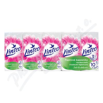 Papírové kapesníky LINTEO 3-vrstvé bílé 10x10ks