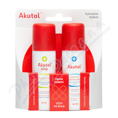 Akutol spray a Akutol Stop spray duopack 2 x 60 ml