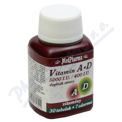 MedPharma Vitamín A+D (5000 I.U./400 I.U.) tob.37