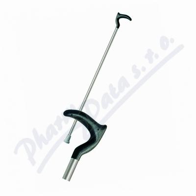 Hůl duralová H81/1 č.1 85cm rovná/zahnnutá rukojeť