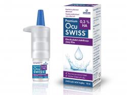 OCUSWISS 0,3 % HA, Zvlhčující oční kapky 10 ml
