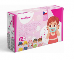 Mesaverde dětské certifikované zdravotní roušky růžové 25 ks