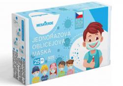 Mesaverde dětské certifikované zdravotní roušky modré 25 ks